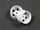 Atomic Mini-Z AWD Wide Split-Spoke Wheels +3 offset (white)
