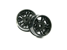 Atomic Mini-Z AWD Narrow Split-Spoke Wheels +2.5 offset (black)