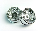 Atomic Mini-Z AWD Wide Split-Spoke Wheels +1 offset (chrome)