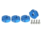 RSD DCJ 4mm Clamping Hex Hub Adapters (1 Pair)