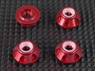 QT-121-4C-RD QTEQ Smart Wheel Nut - Recessed Type (Red)