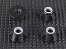 QT-121-4F-BK QTEQ Smart Wheel Nut - Flat Type (4 pcs -Black)
