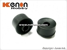 PN Racing Machine Cut 20mm Rear Wheel - Black +2 Offset