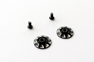 RSD Wing Nuts - Black (1 pair)