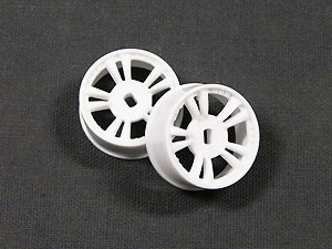 Atomic Mini-Z AWD Narrow Split-Spoke  Wheels +0 offset (white)