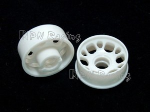 PN Racing Mini-Z MR015/MR02 White Front Wheel Rim 0 Offset