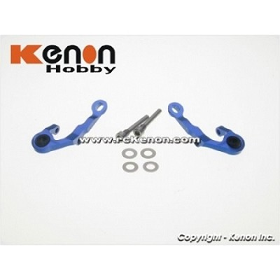 PN Racing MR-03 Aluminum Upper Arm - 2 Deg (blue)