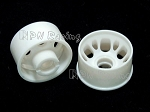 PN Racing Mini-Z MR015/MR02 White Rear Wheel Rim 0 Offset